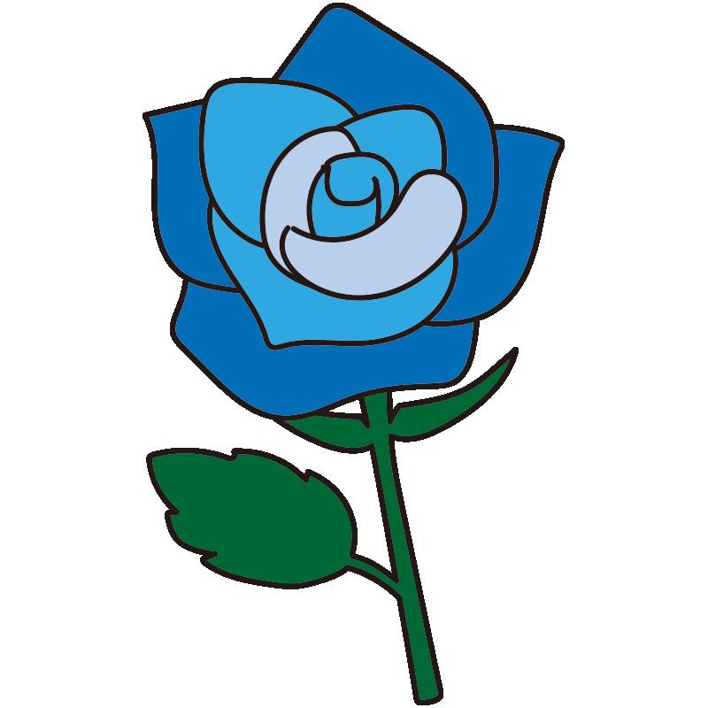 1本の青いバラ1