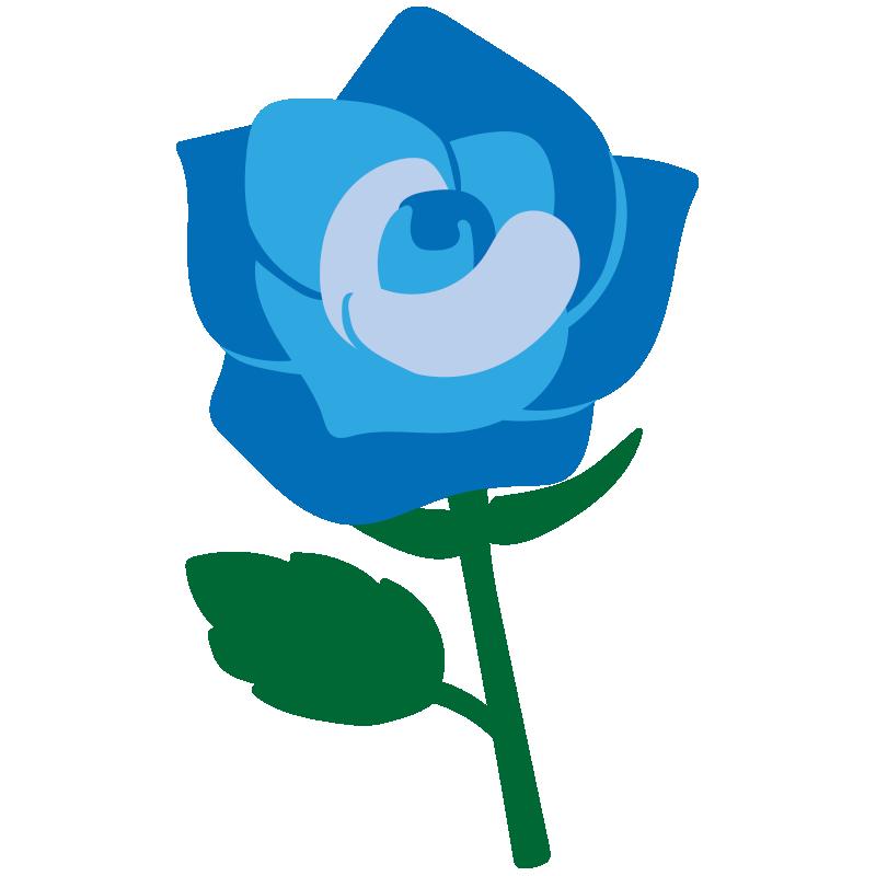 1本の青いバラ2