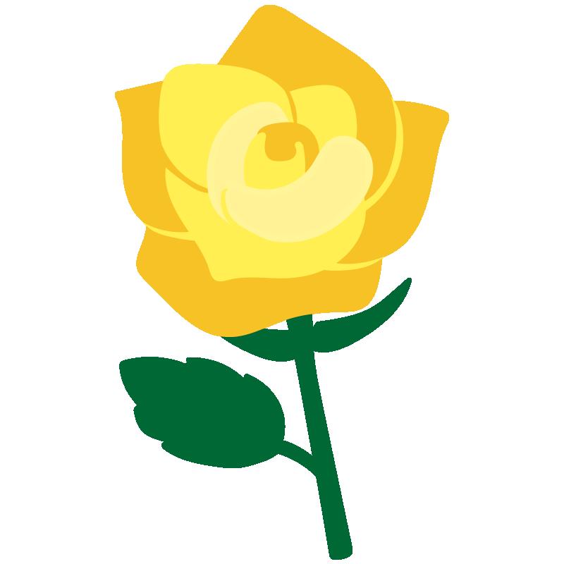 1本の黄色いバラ2