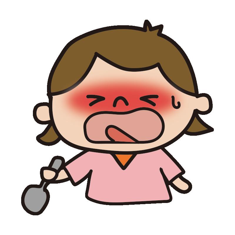辛い表情の女の子1