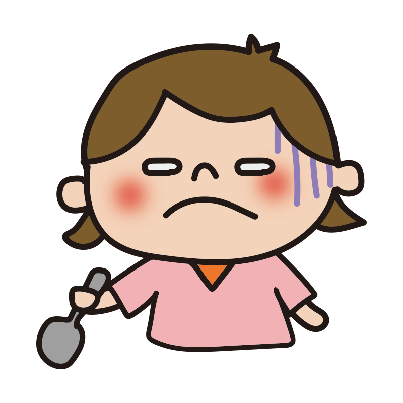 不味い表情の女の子1