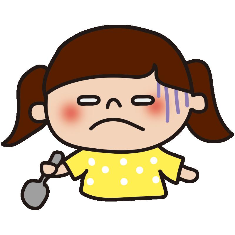 不味い表情の女の子2