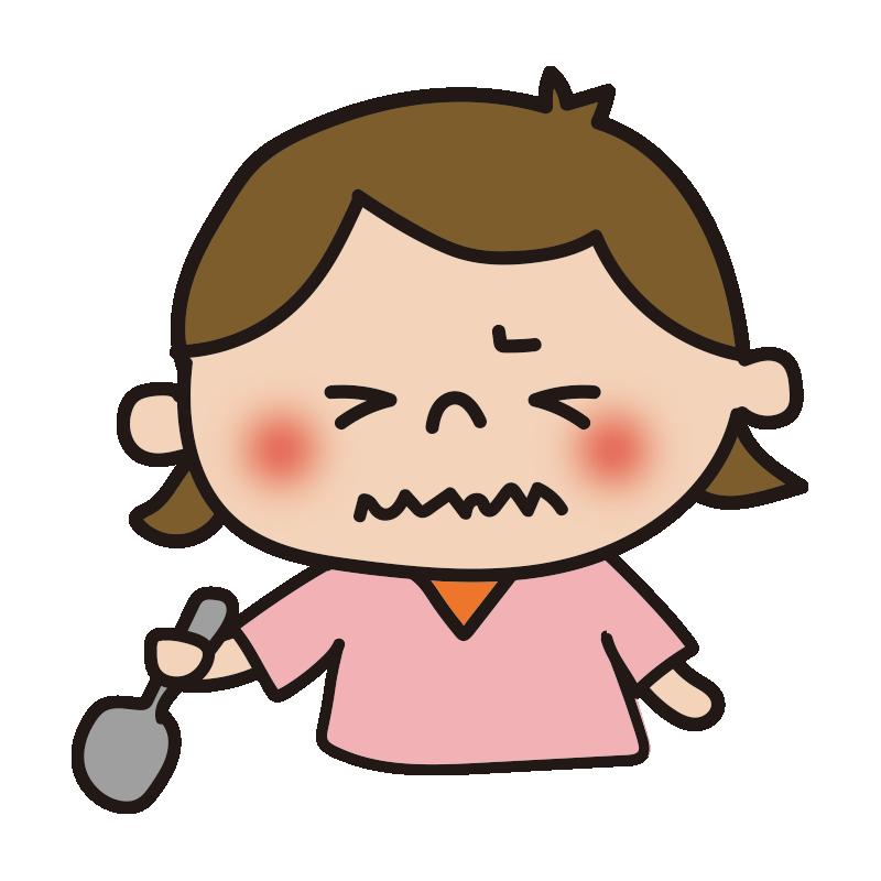 苦い表情の女の子1