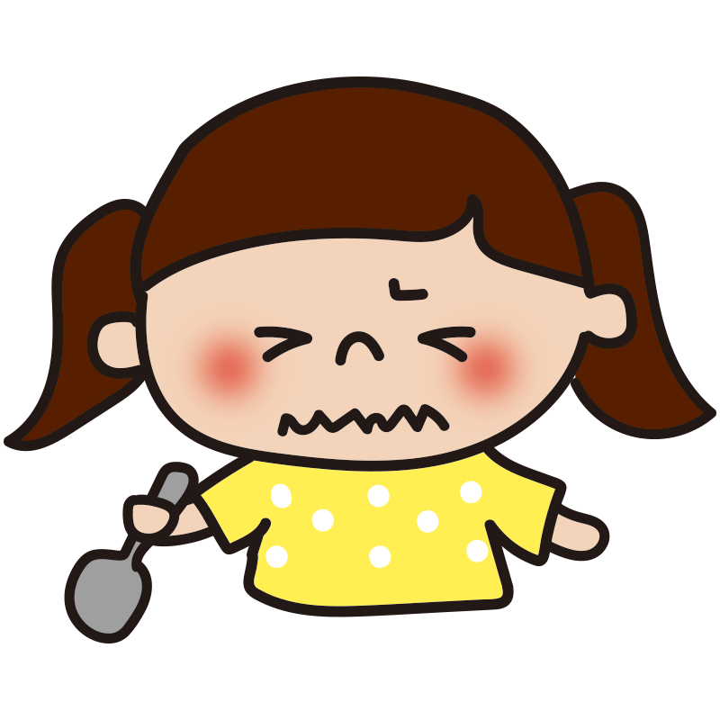 苦い表情の女の子2