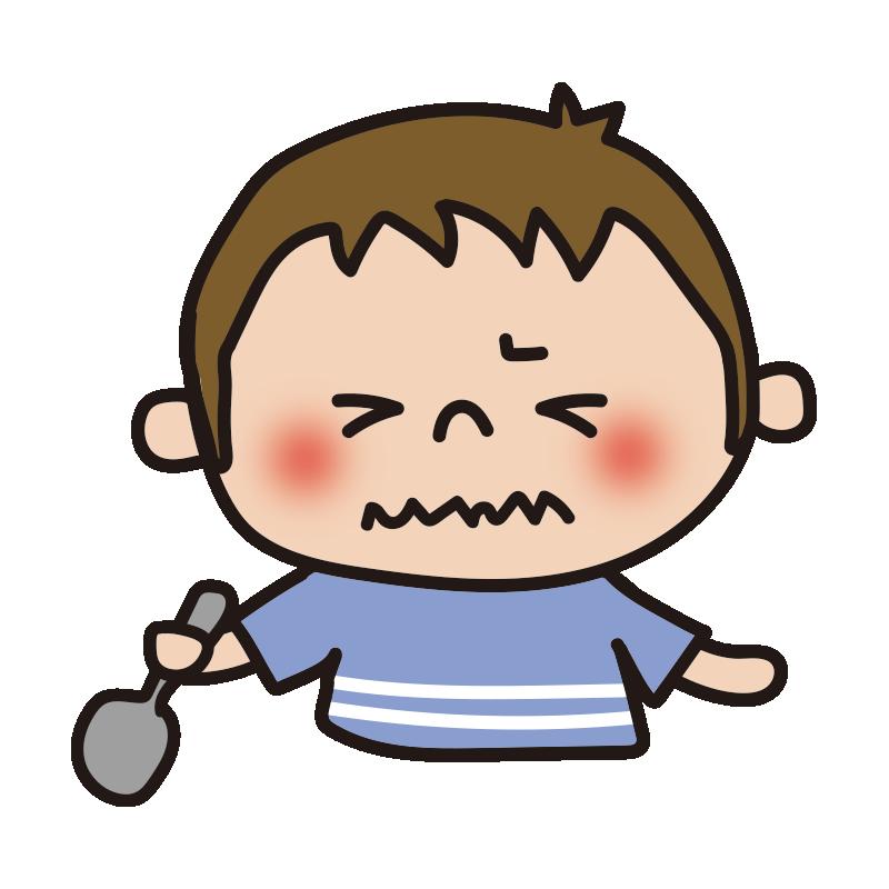 苦い表情の男の子1