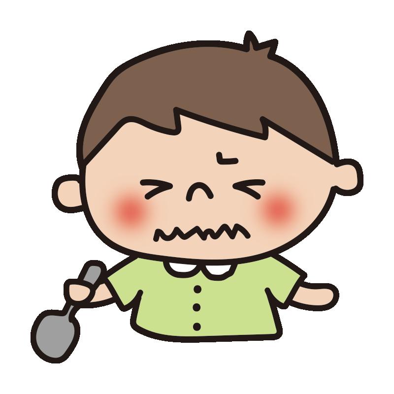 苦い表情の男の子2