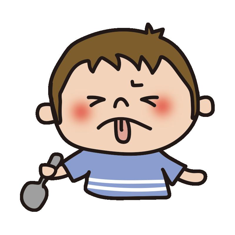 しょっぱい表情の男の子1