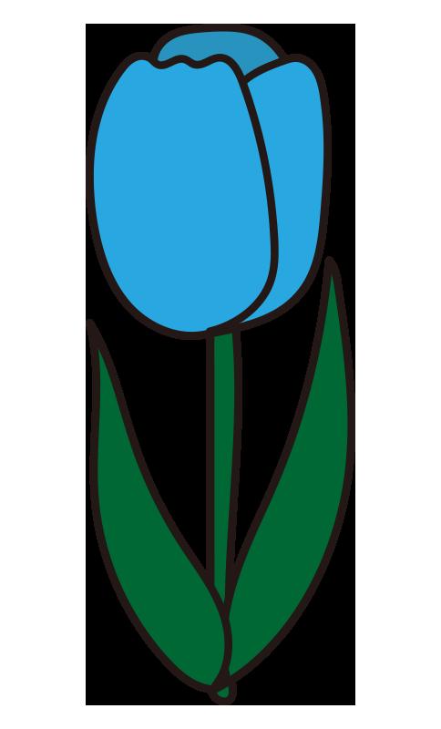 チューリップ(青)
