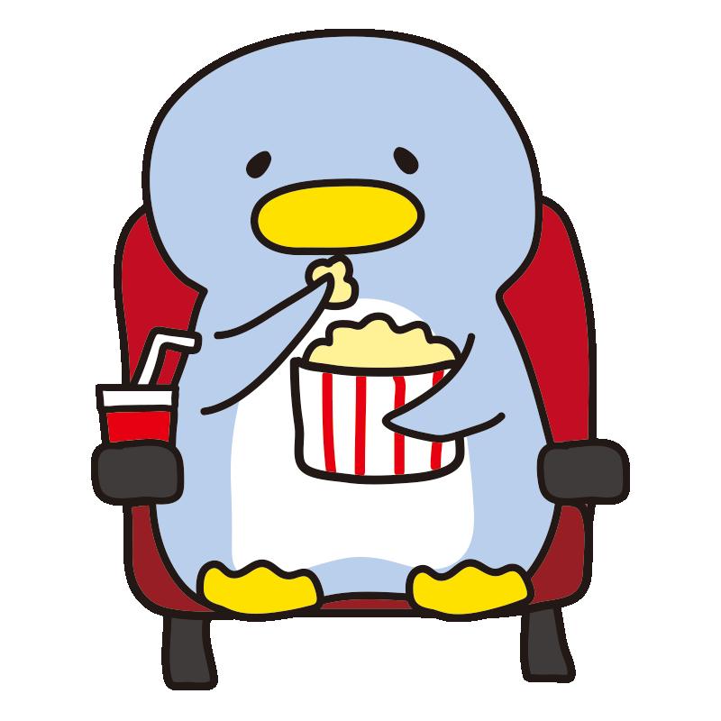 映画を観るペンギン