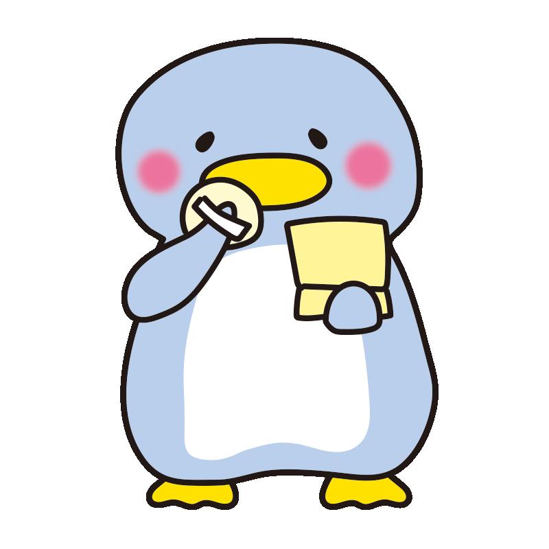 お化粧するペンギン