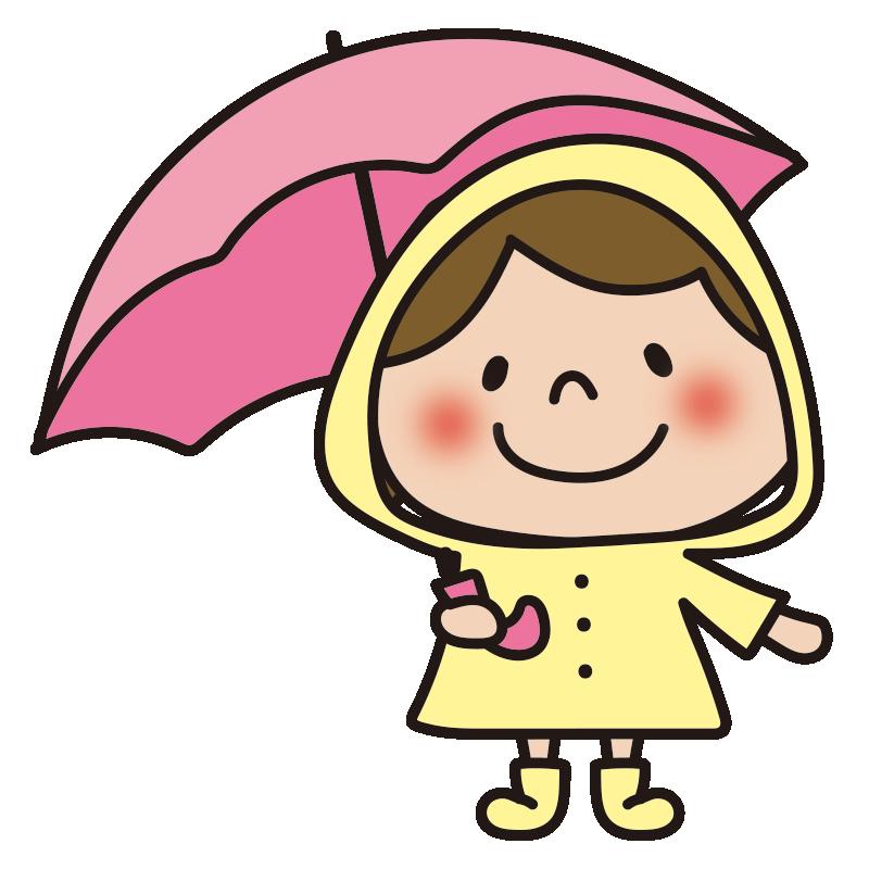 雨合羽を着た女の子1