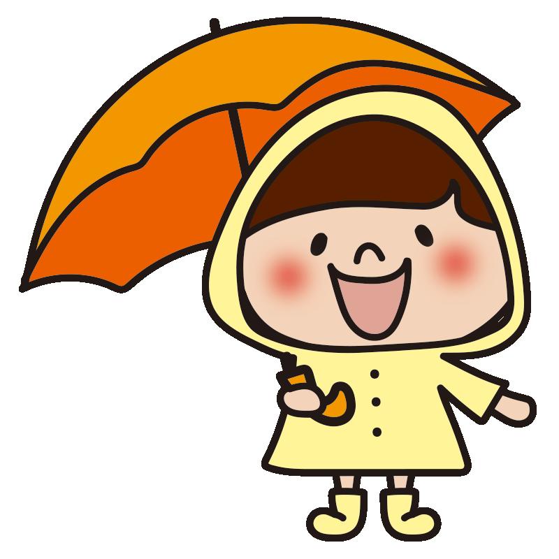 雨合羽を着た女の子2