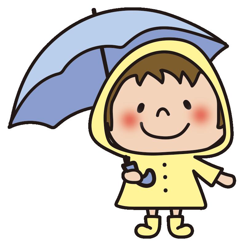 雨合羽を着た男の子1