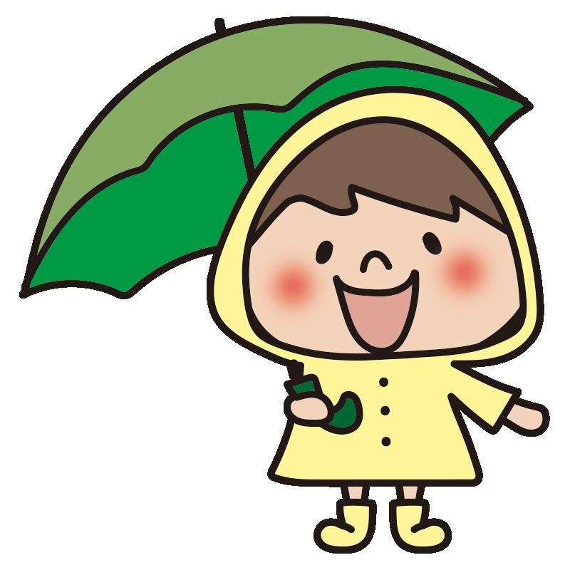 雨合羽を着た男の子2