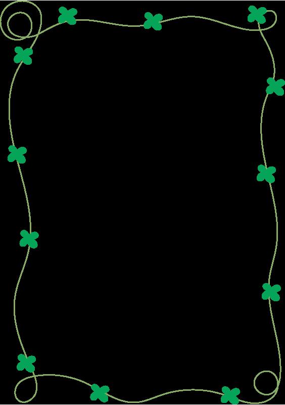 四葉のクローバーの枠(縦)