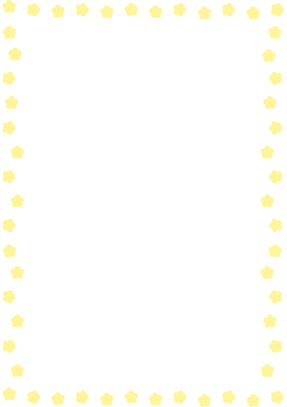 黄色い花の枠(縦)