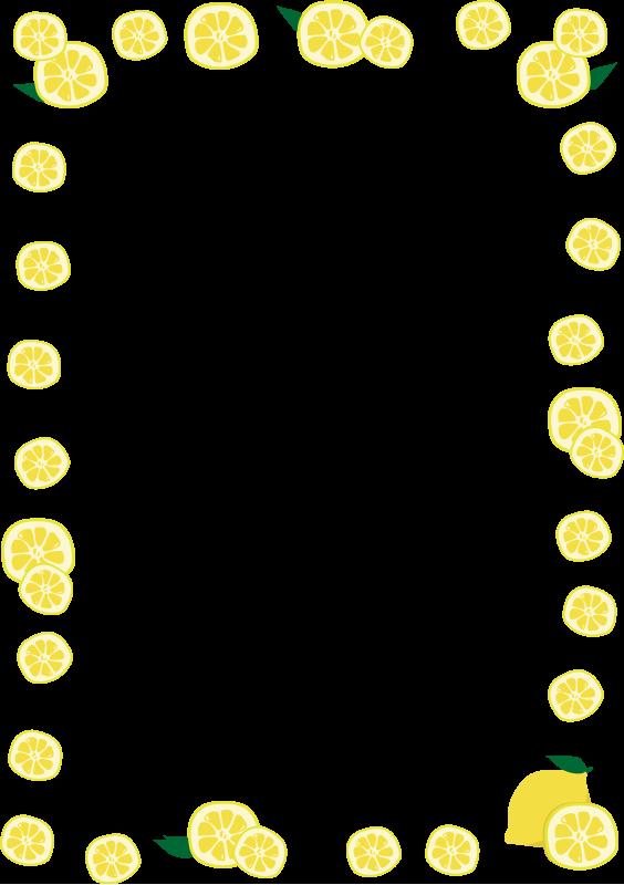 レモンの枠(縦)