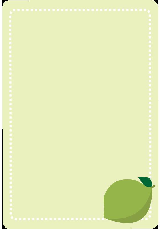 ライムの点線の枠(縦)