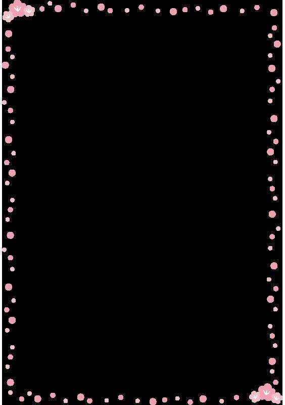 桃の花の枠1(縦)