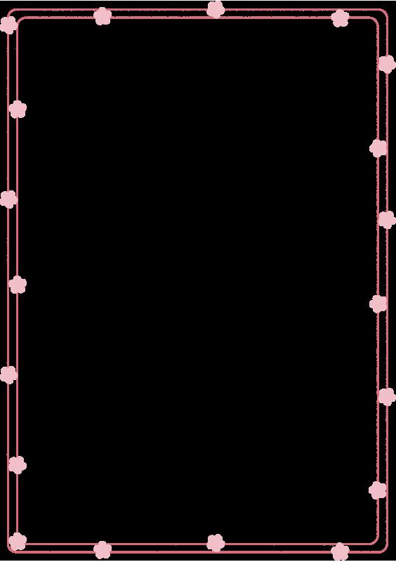 桃の花の枠3(縦)