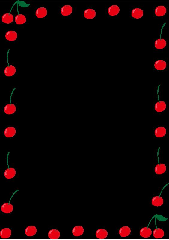 さくらんぼの囲み枠(縦)