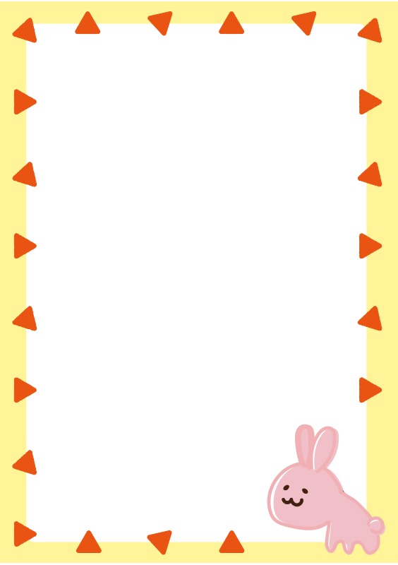 うさぎの枠(縦)