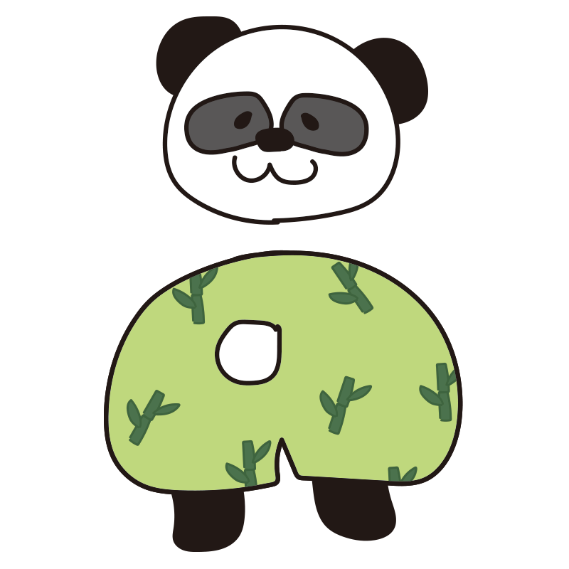 誰のパンツ?パンダ