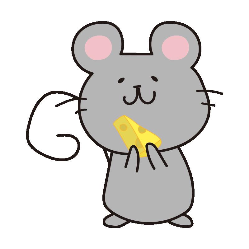 チーズを持ったネズミ