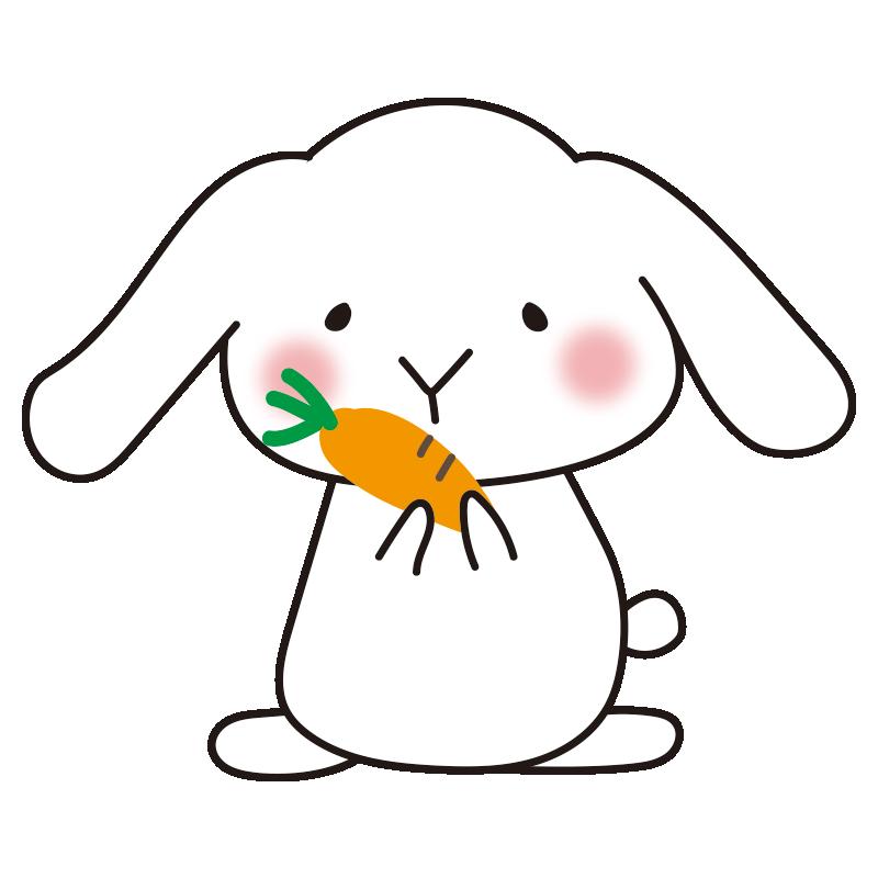 にんじんを持ったウサギ