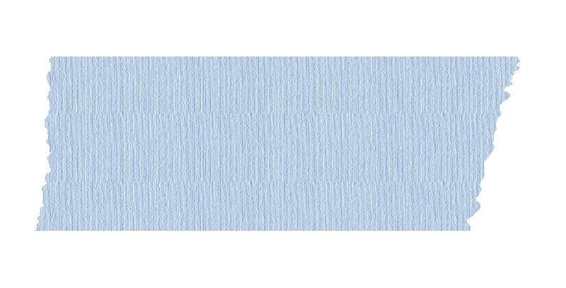 短く切った青いマスキングテープ