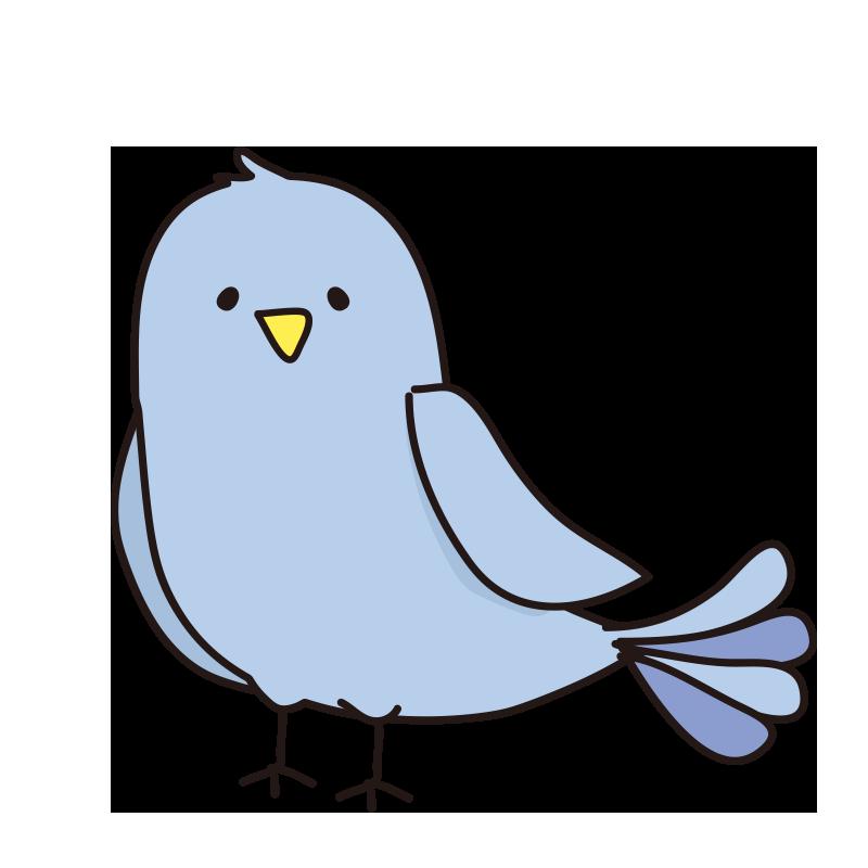 休んでいる青い鳥