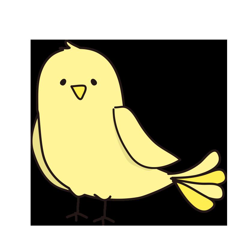 休んでいる黄色い鳥