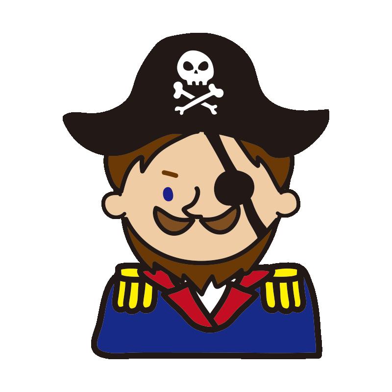 眼帯をした海賊の船長