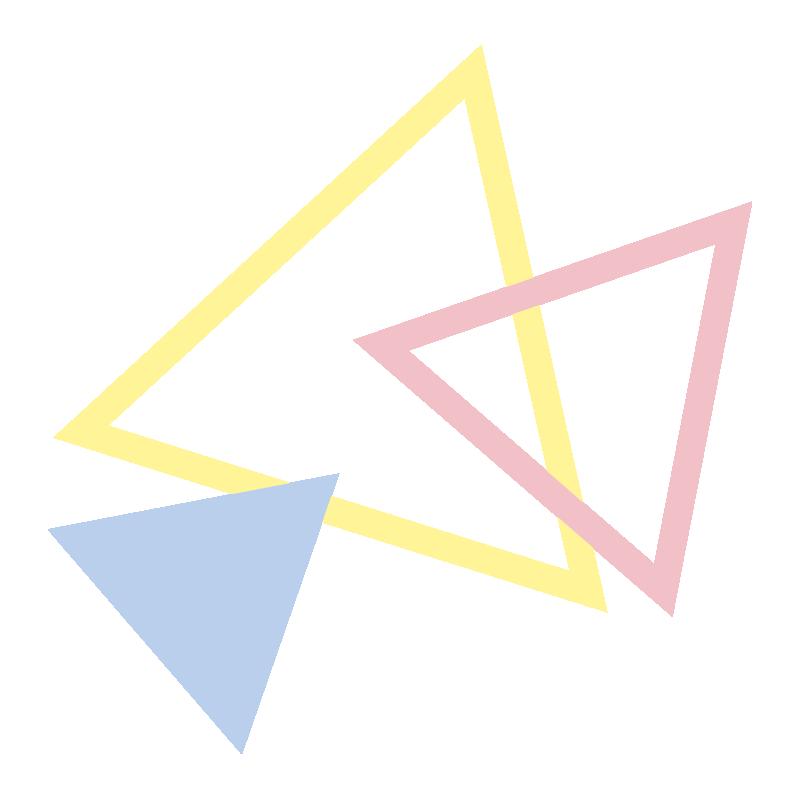 いろいろな三角の飾り1