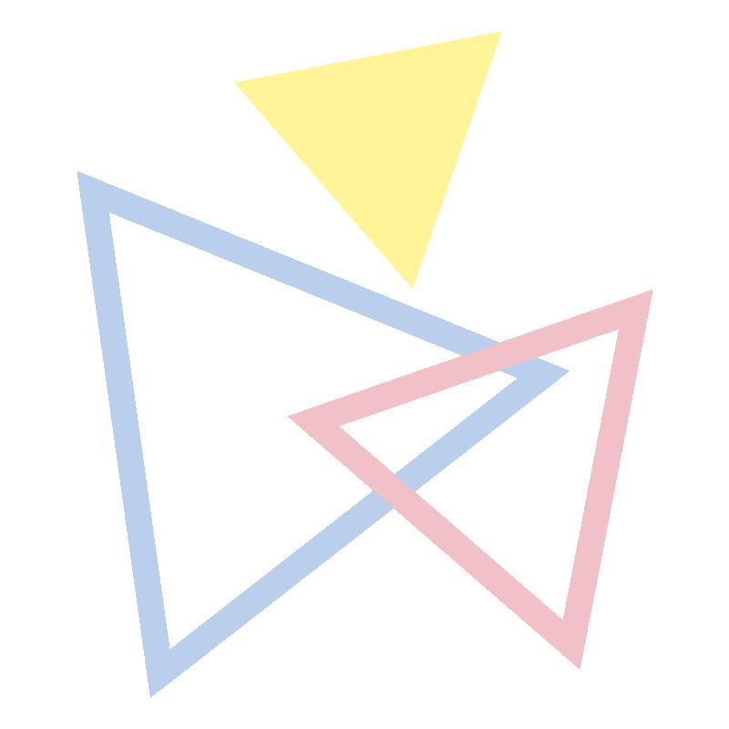 いろいろな三角の飾り2