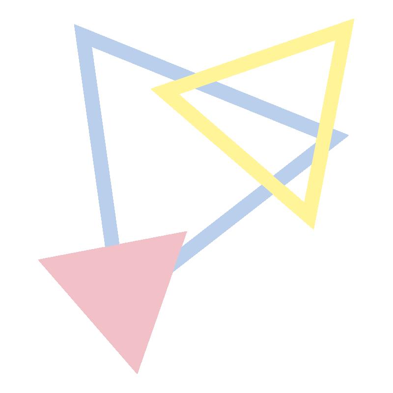いろいろな三角の飾り3