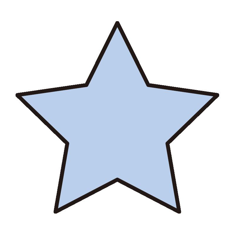 シンプルな青い星1