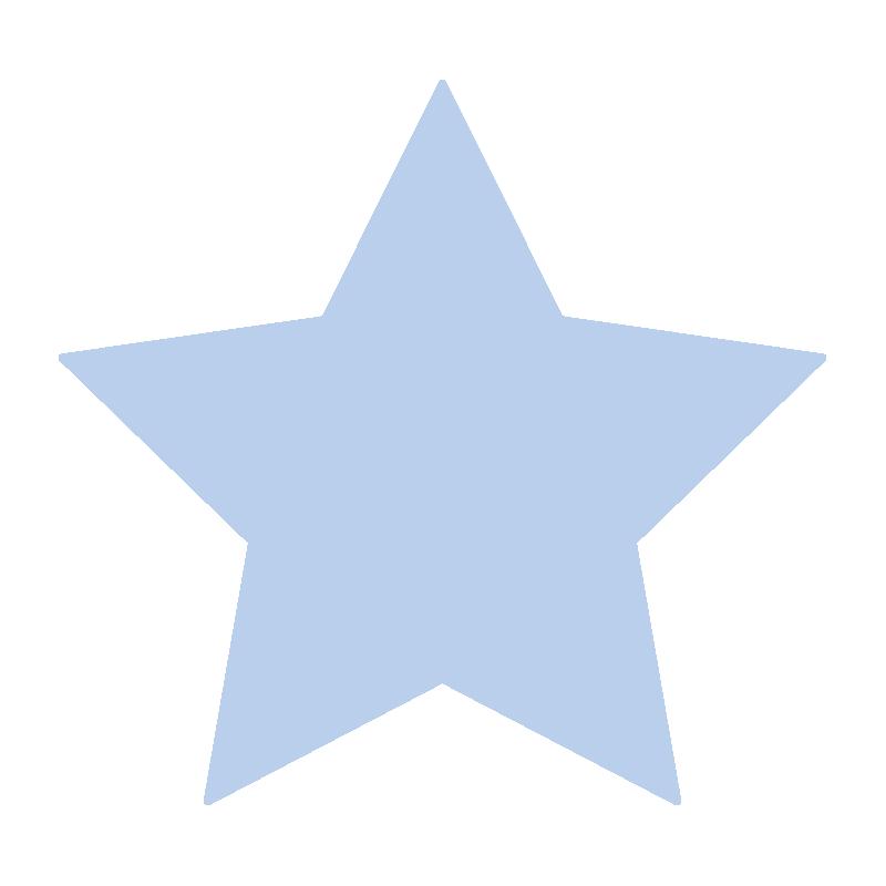 シンプルな青い星2