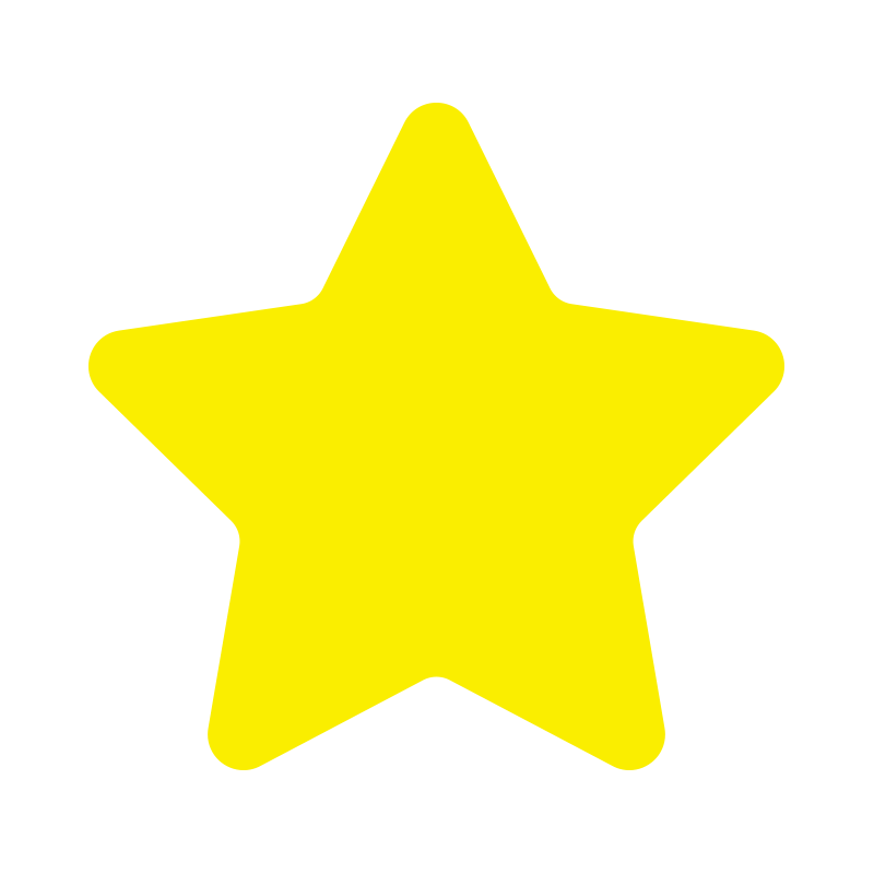角が丸くなっている黄色い星2