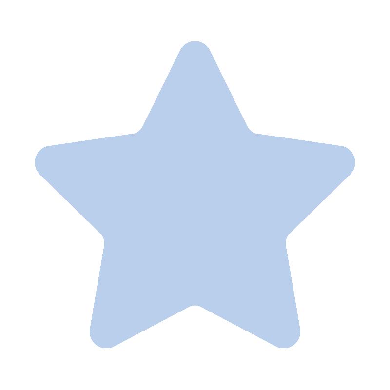 角が丸くなっている青い星2