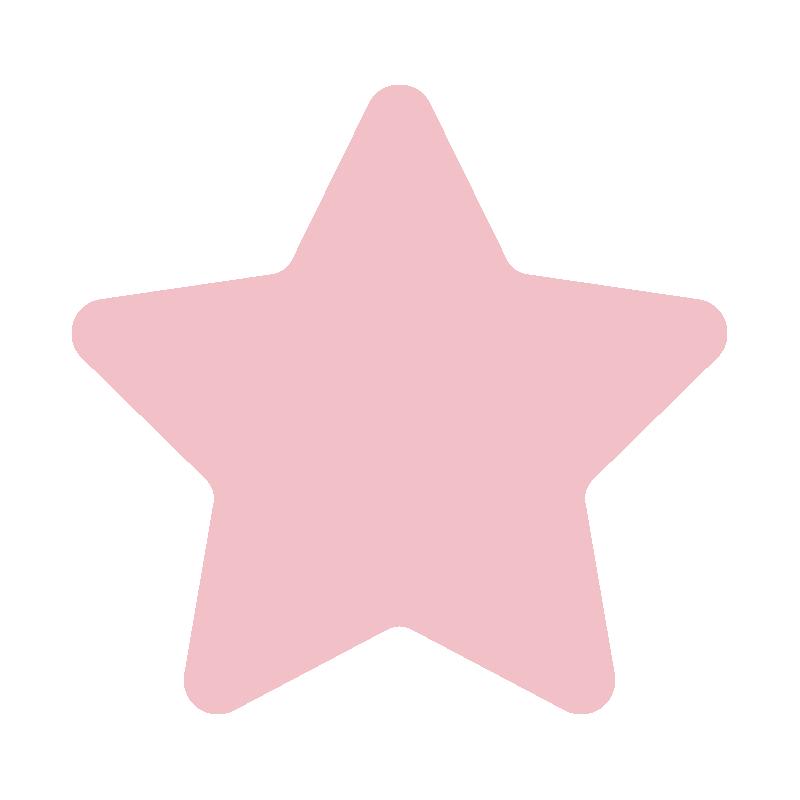 角が丸くなっているピンクの星2