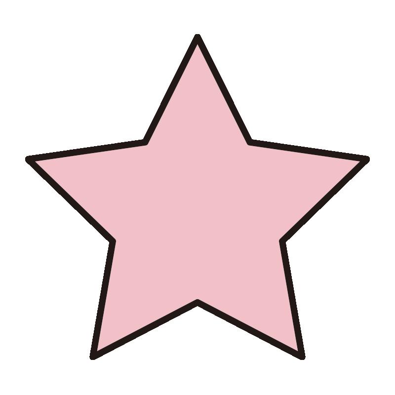 シンプルなピンクの星1