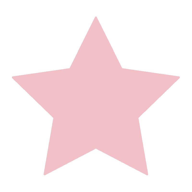 シンプルなピンクの星2