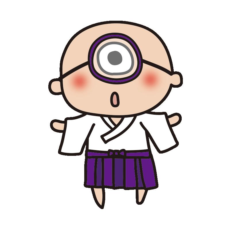 眼鏡をかけた一つ目小僧