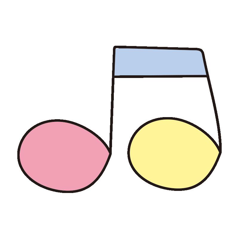 カラフルな音符1
