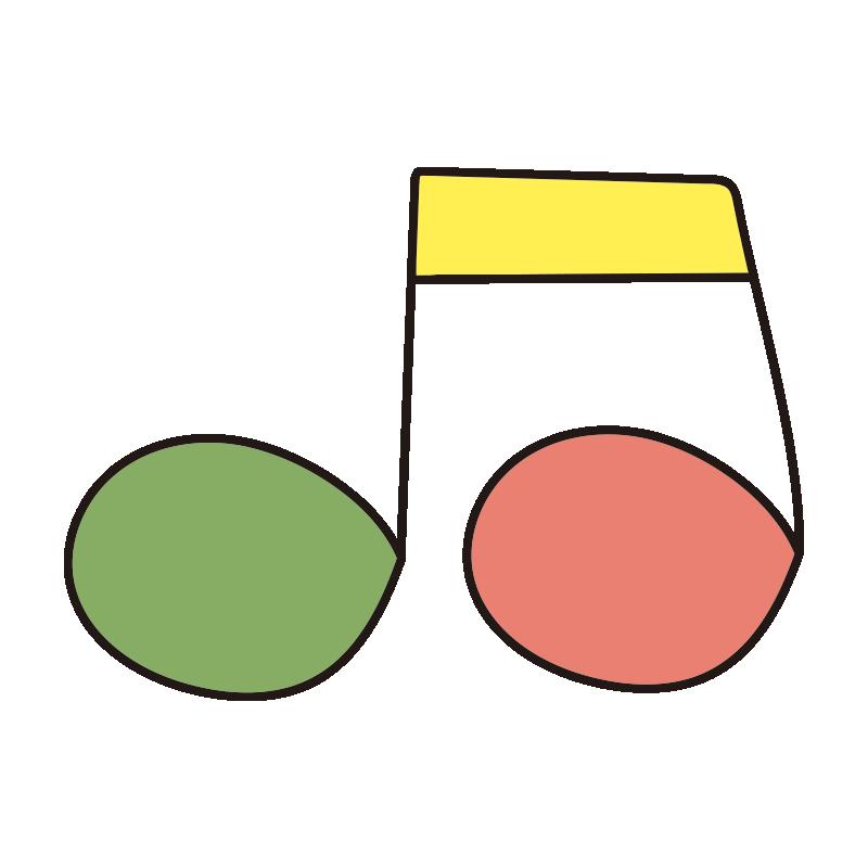 カラフルな音符2