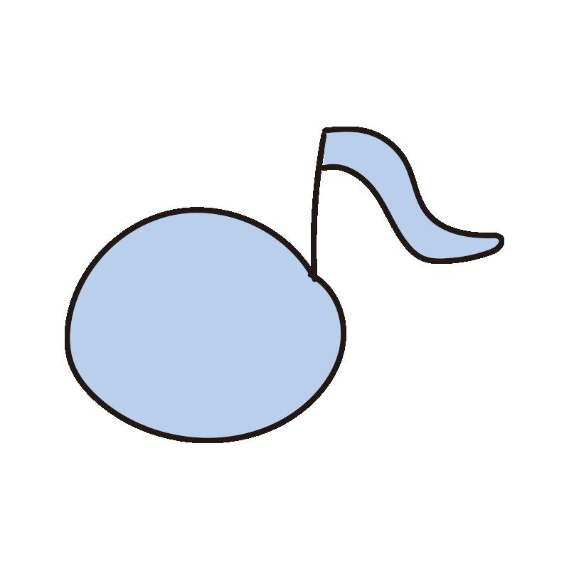 カラフルな音符(青)
