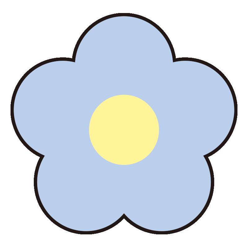 シンプルな青い花1