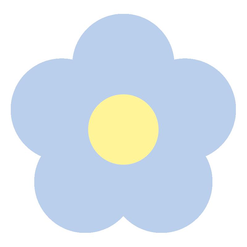 シンプルな青い花2