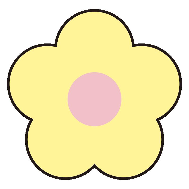 シンプルな黄色い花1